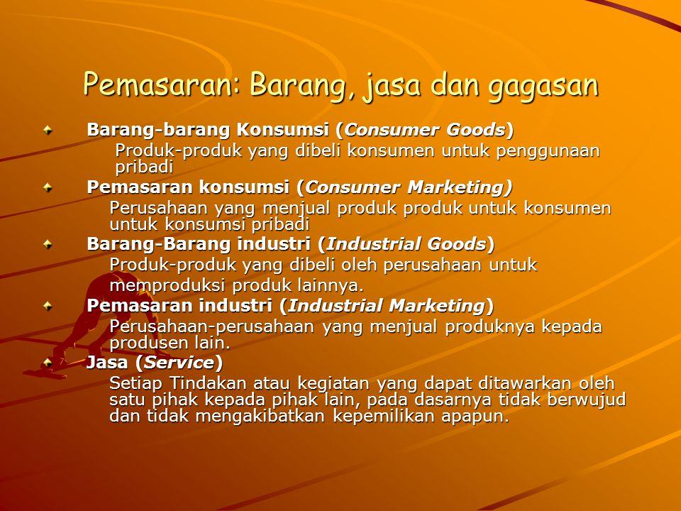 Pemasaran: Barang, jasa dan gagasan