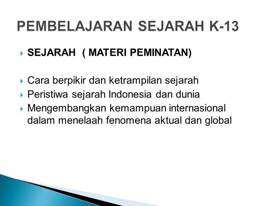 PEMBELAJARAN SEJARAH K-13