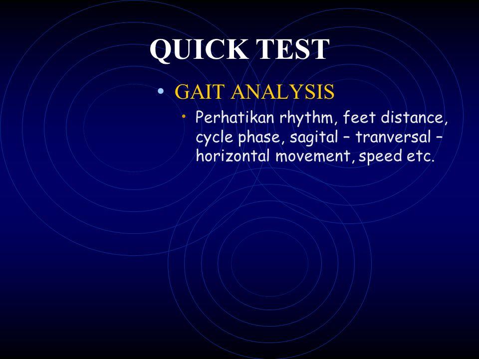 QUICK TEST GAIT ANALYSIS