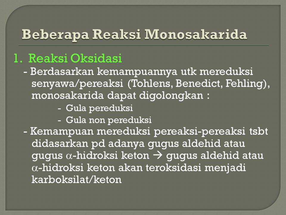 Beberapa Reaksi Monosakarida