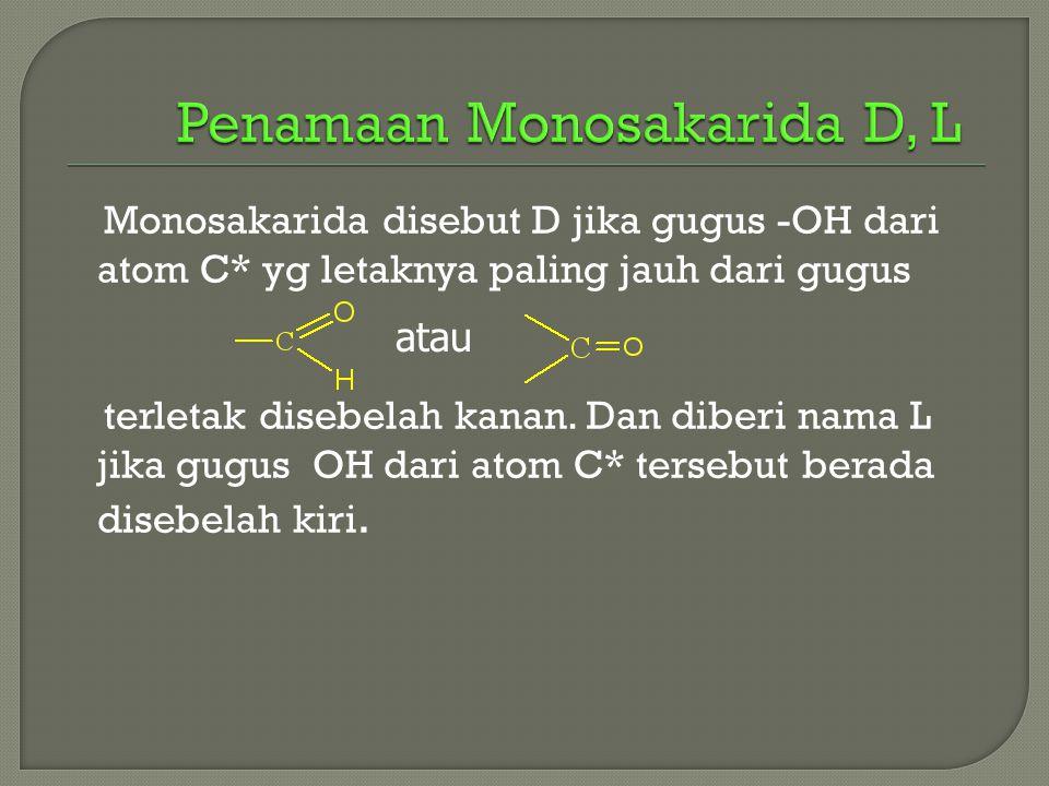 Penamaan Monosakarida D, L