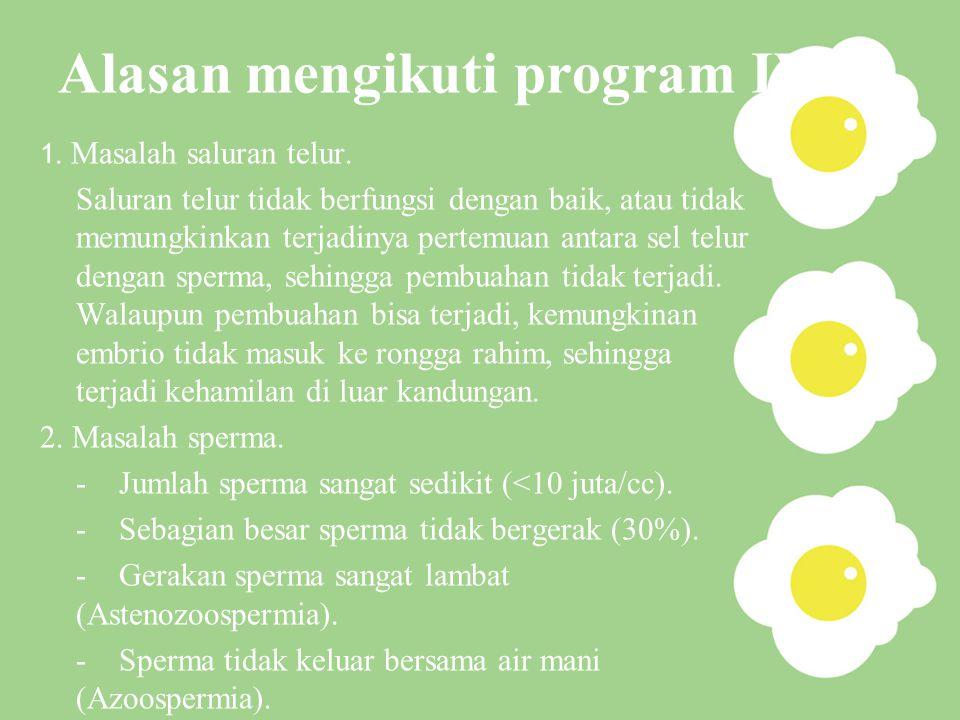Alasan mengikuti program IVF
