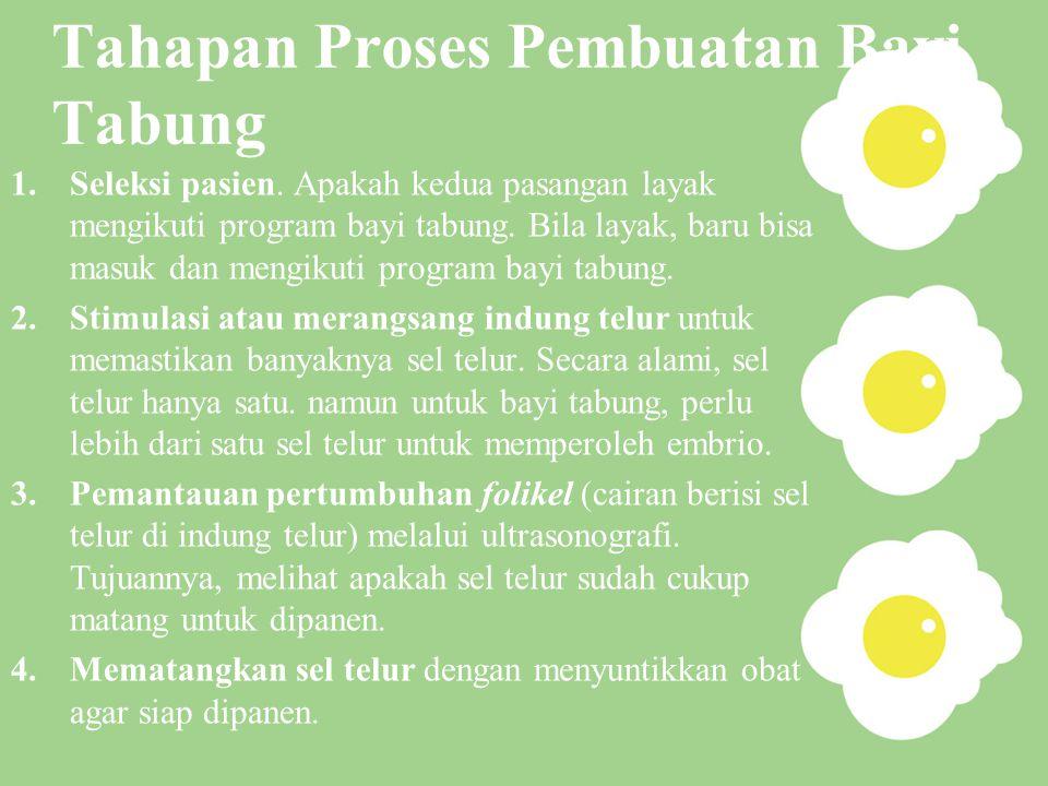 Tahapan Proses Pembuatan Bayi Tabung