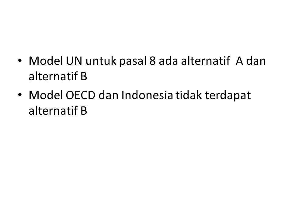 Model UN untuk pasal 8 ada alternatif A dan alternatif B