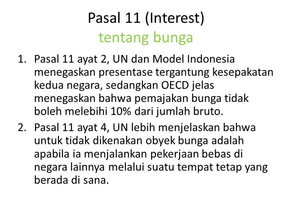 Pasal 11 (Interest) tentang bunga