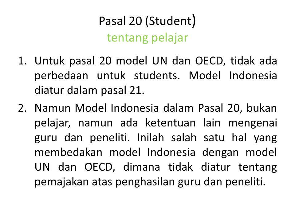 Pasal 20 (Student) tentang pelajar