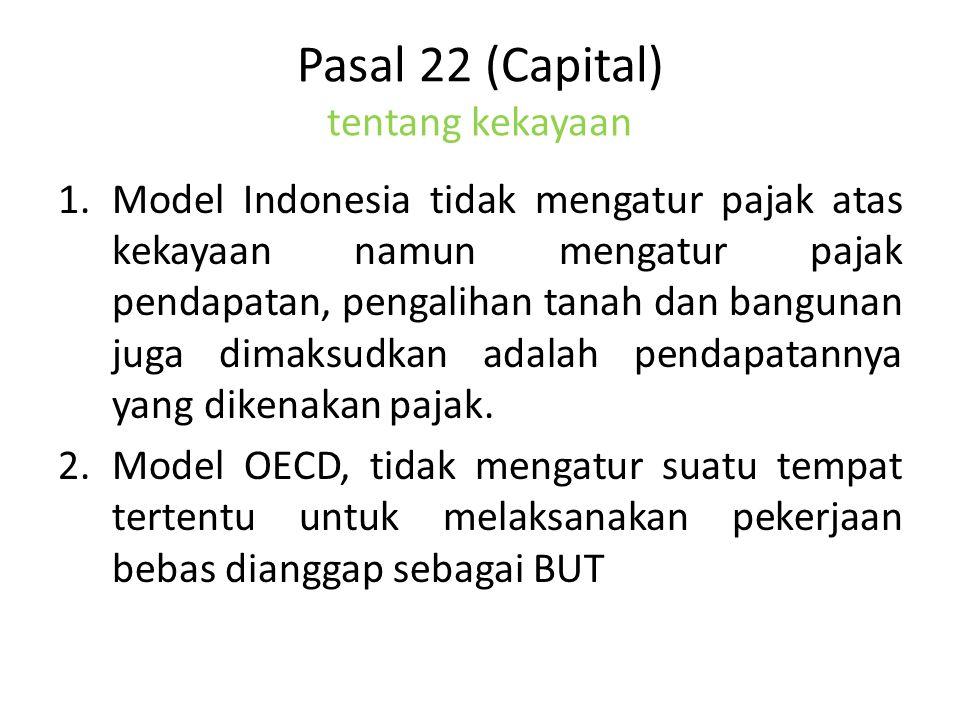 Pasal 22 (Capital) tentang kekayaan