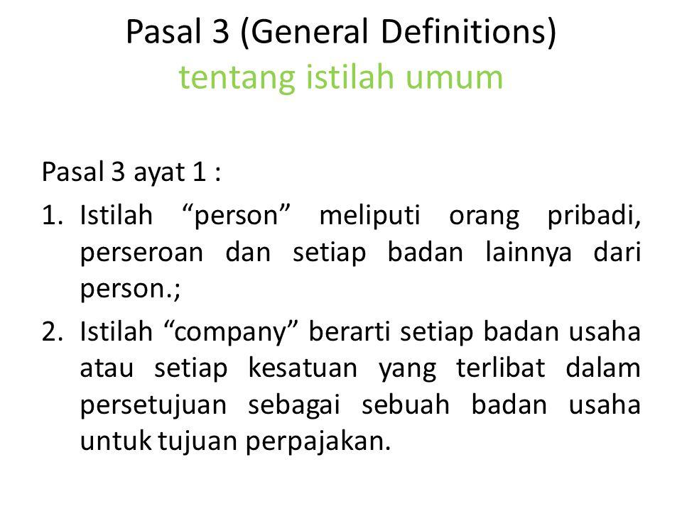 Pasal 3 (General Definitions) tentang istilah umum