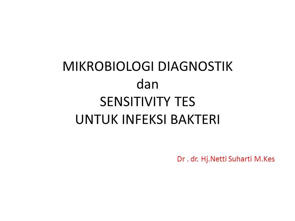MIKROBIOLOGI DIAGNOSTIK dan SENSITIVITY TES UNTUK INFEKSI BAKTERI