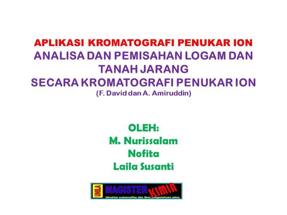 OLEH: M. Nurissalam Nofita Laila Susanti