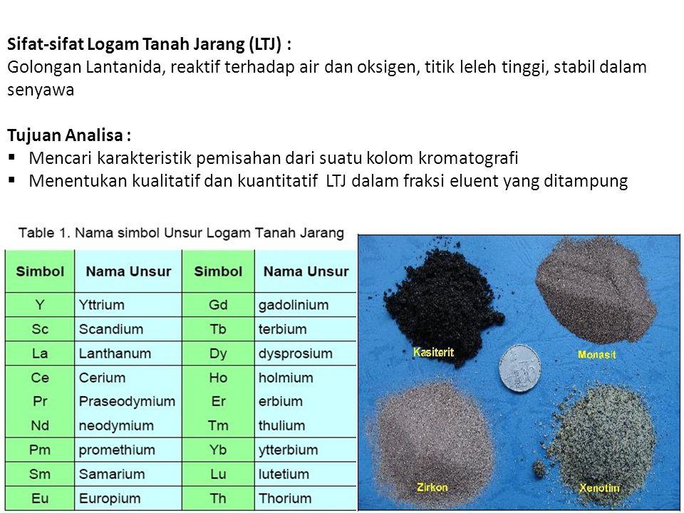 Sifat-sifat Logam Tanah Jarang (LTJ) :