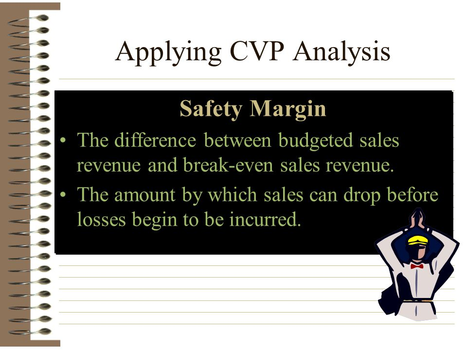 Applying CVP Analysis Safety Margin
