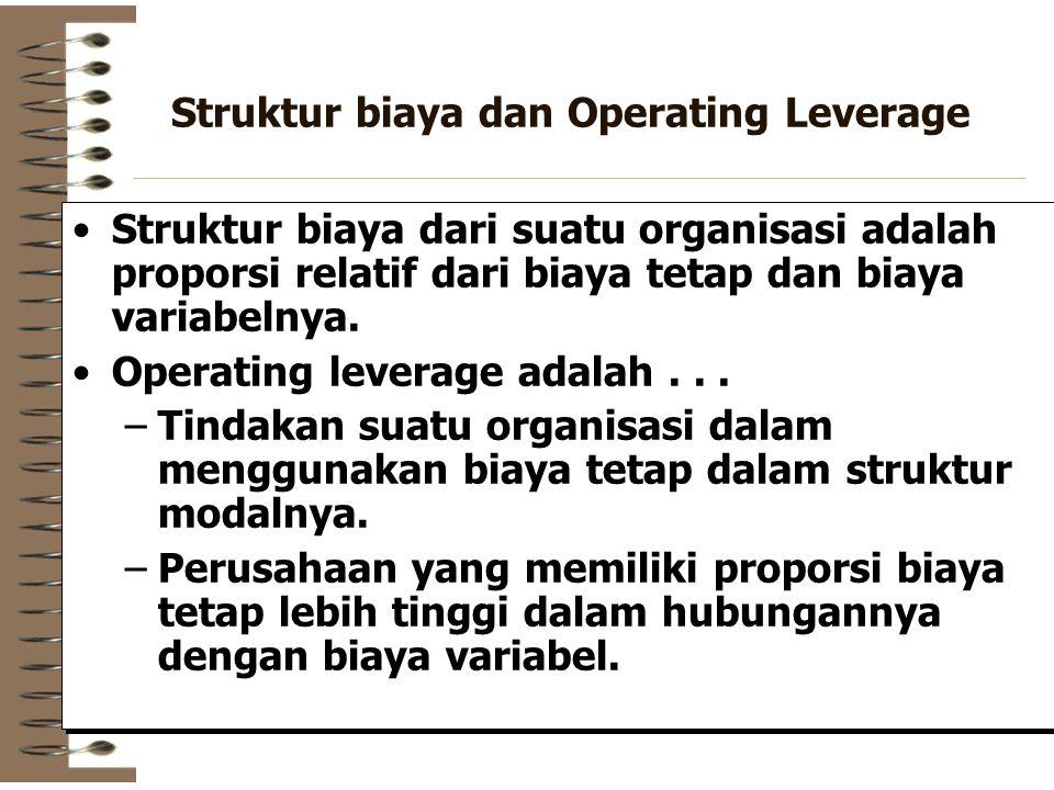 Struktur biaya dan Operating Leverage