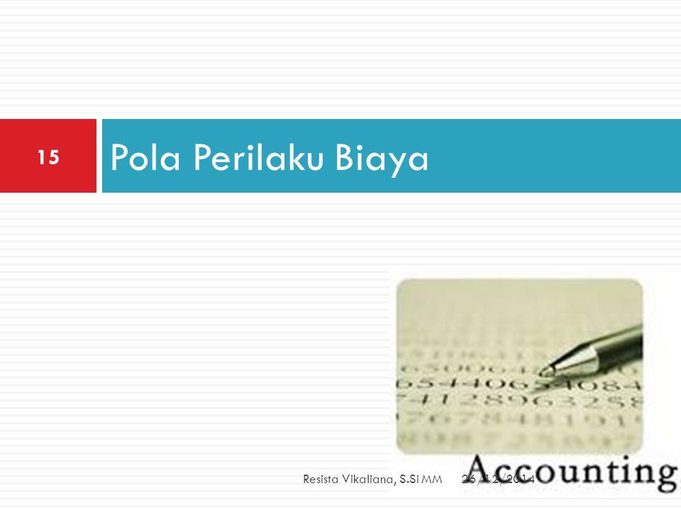Pola Perilaku Biaya Resista Vikaliana, S.Si MM 26/12/2014