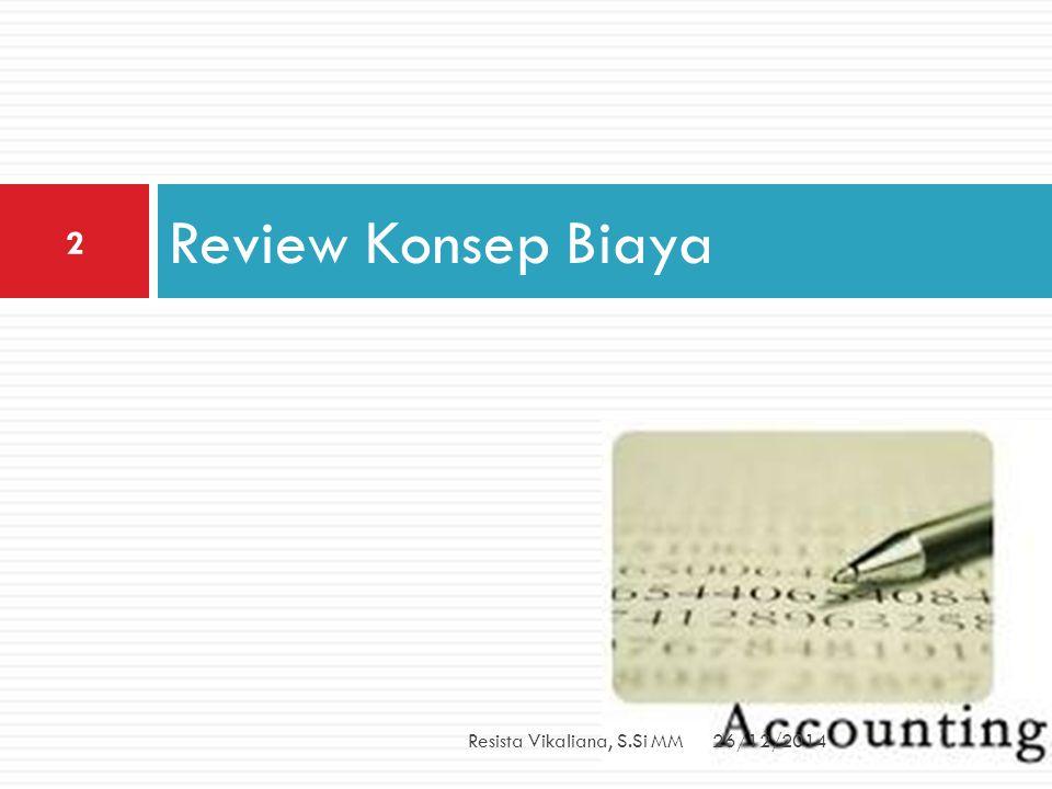 Review Konsep Biaya Resista Vikaliana, S.Si MM 26/12/2014