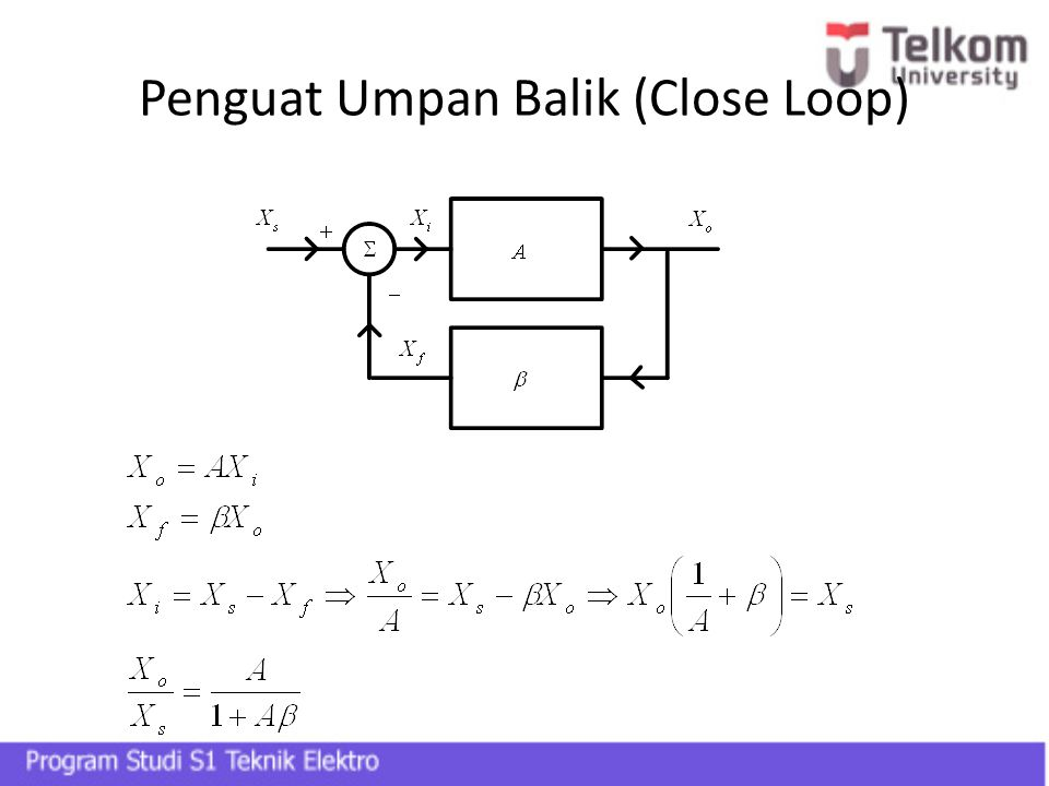 Penguat Umpan Balik (Close Loop)