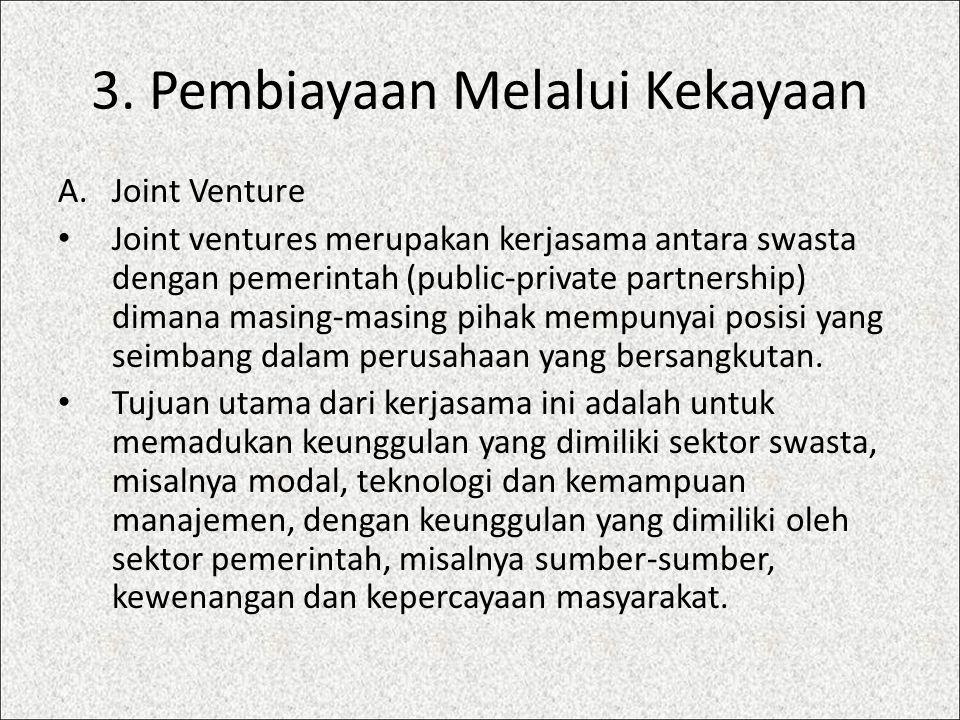 3. Pembiayaan Melalui Kekayaan