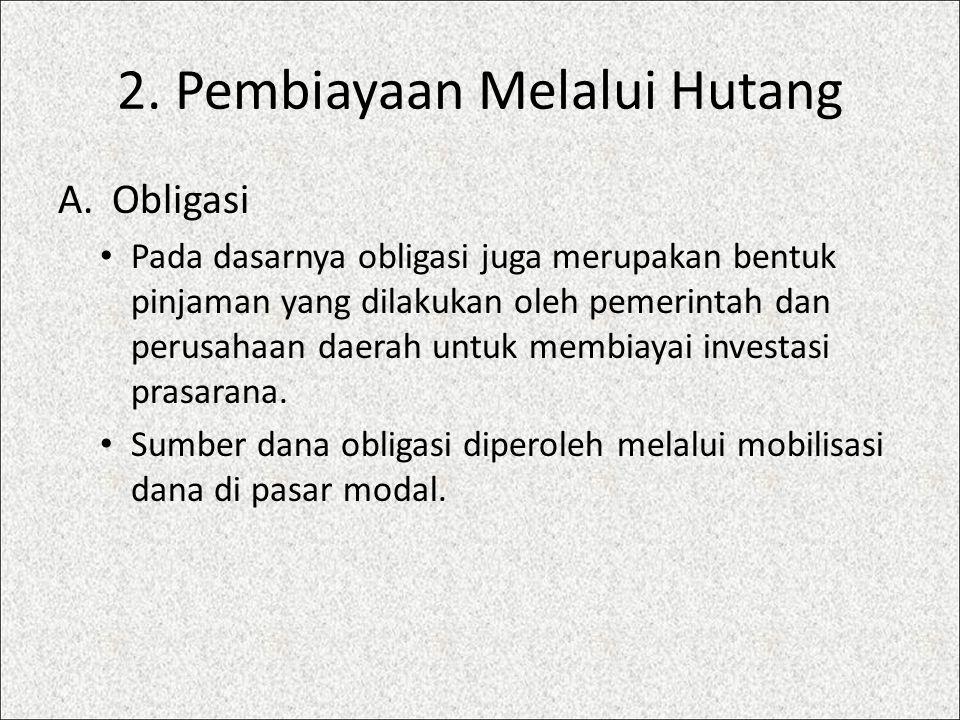 2. Pembiayaan Melalui Hutang