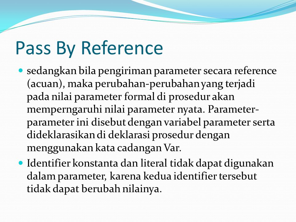 Pass By Reference