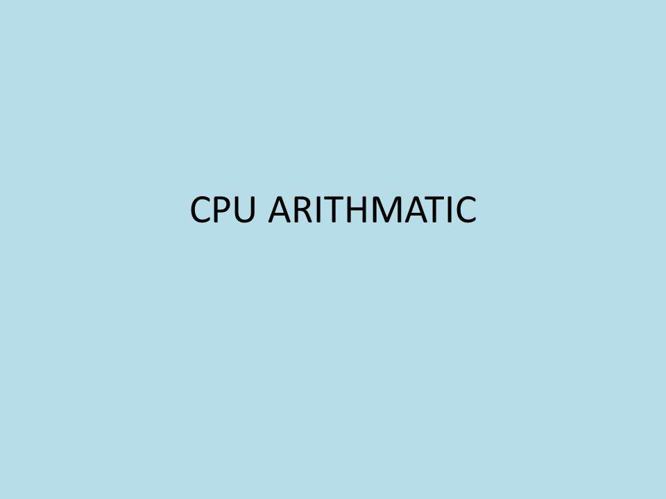 CPU ARITHMATIC