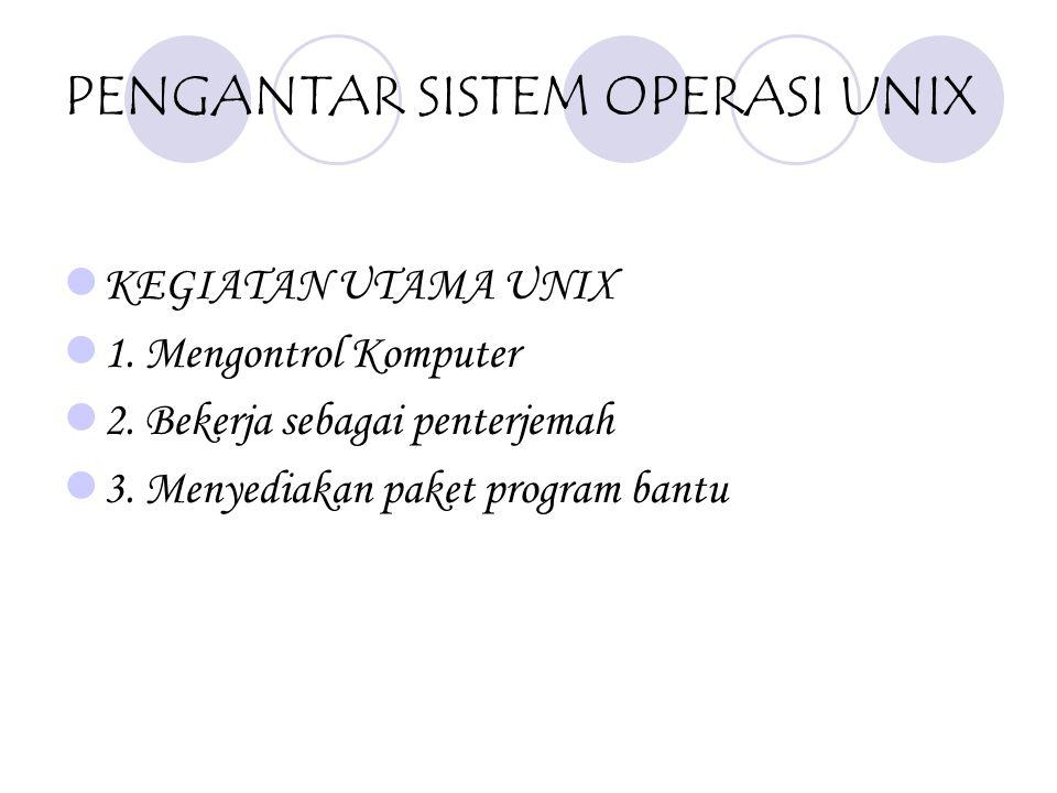 PENGANTAR SISTEM OPERASI UNIX