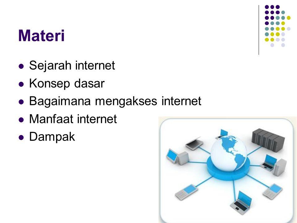 Materi Sejarah internet Konsep dasar Bagaimana mengakses internet