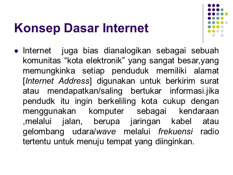 Konsep Dasar Internet