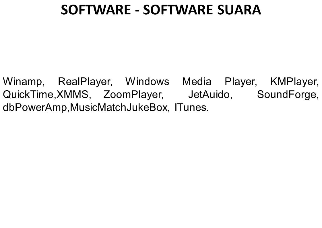 SOFTWARE - SOFTWARE SUARA