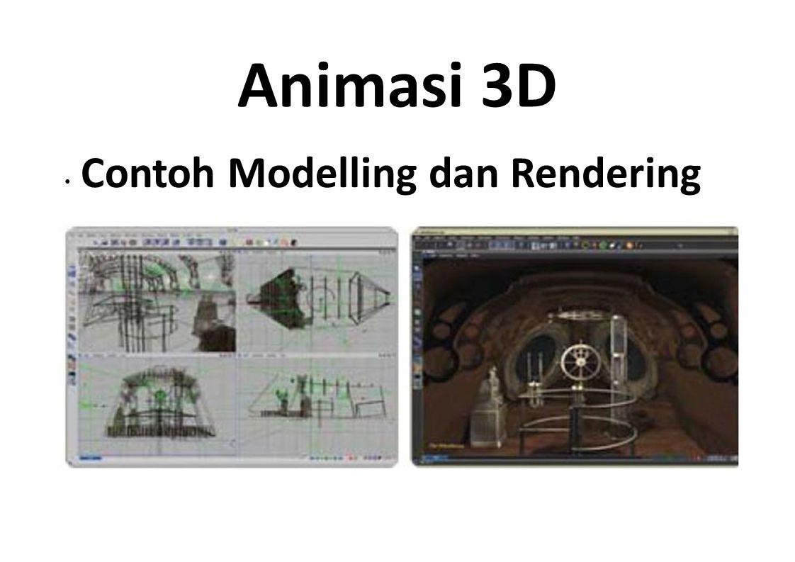 Animasi 3D • Contoh Modelling dan Rendering