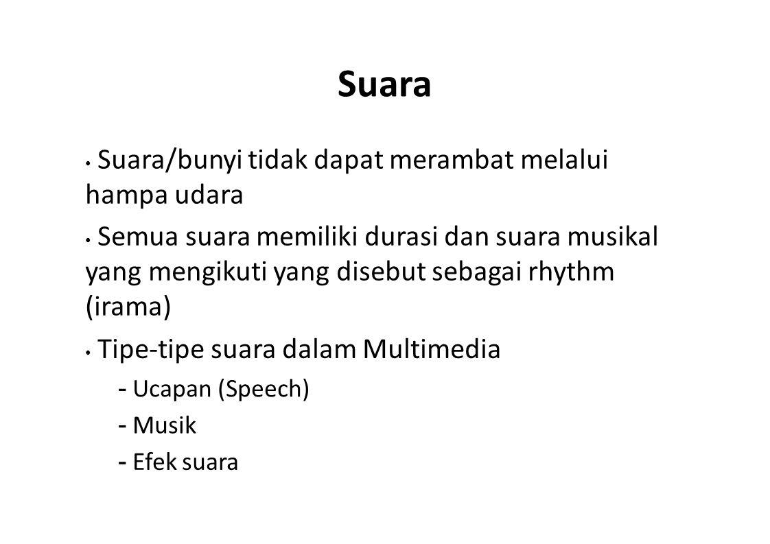 Suara - Ucapan (Speech) - Musik - Efek suara