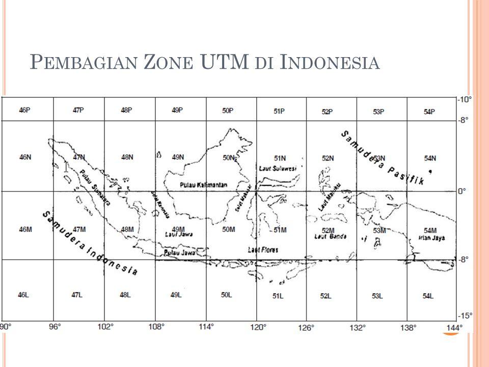 Pembagian Zone UTM di Indonesia