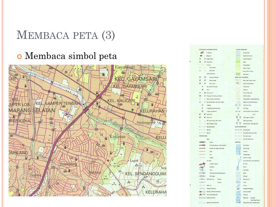 Membaca peta (3) Membaca simbol peta