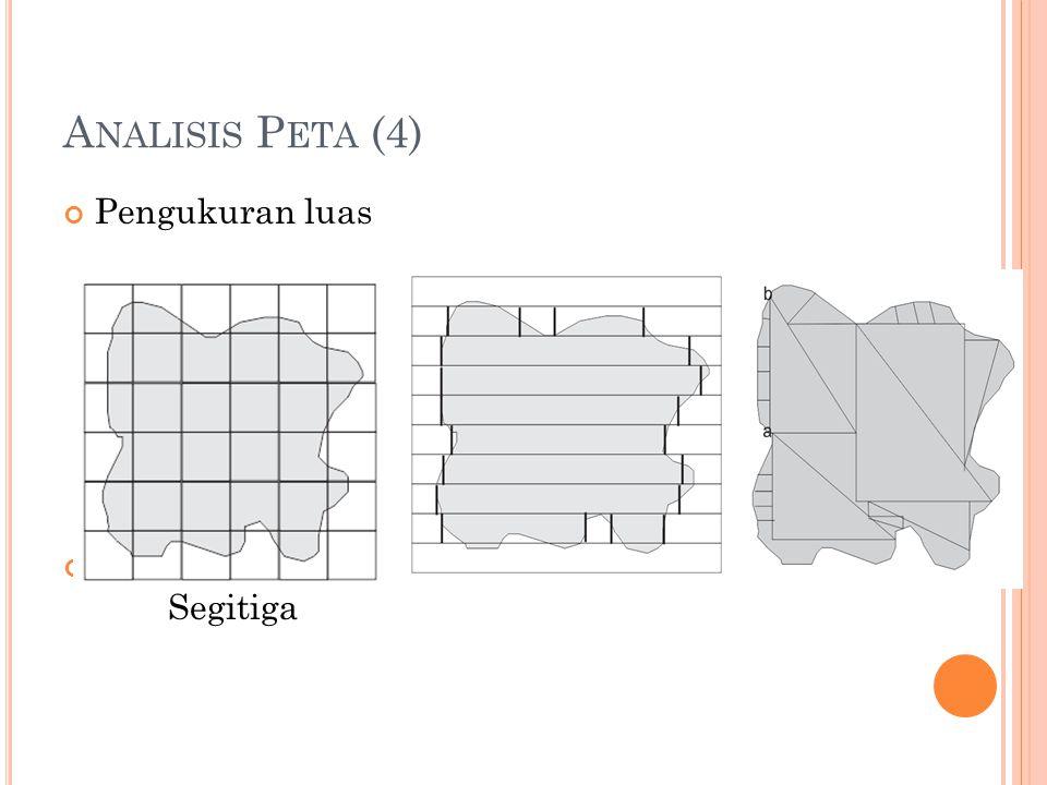 Analisis Peta (4) Pengukuran luas Metode grid Strip Segitiga