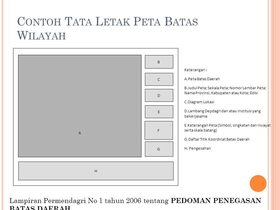 Contoh Tata Letak Peta Batas Wilayah