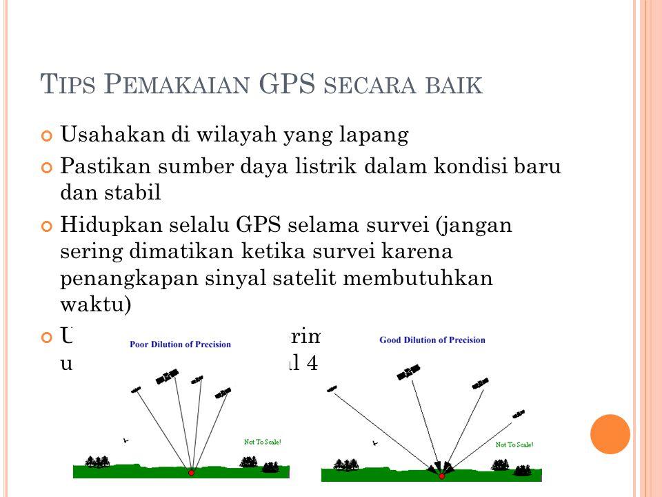 Tips Pemakaian GPS secara baik