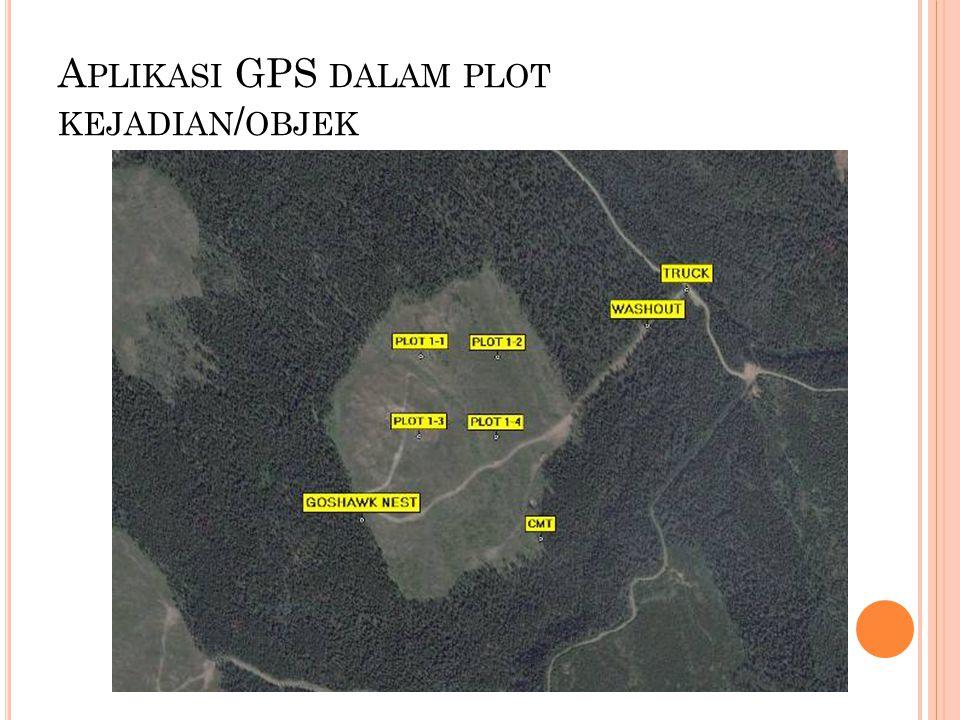 Aplikasi GPS dalam plot kejadian/objek