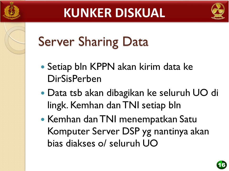 Kunker diskual Server Sharing Data