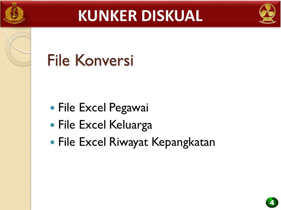 Kunker diskual File Konversi File Excel Pegawai File Excel Keluarga