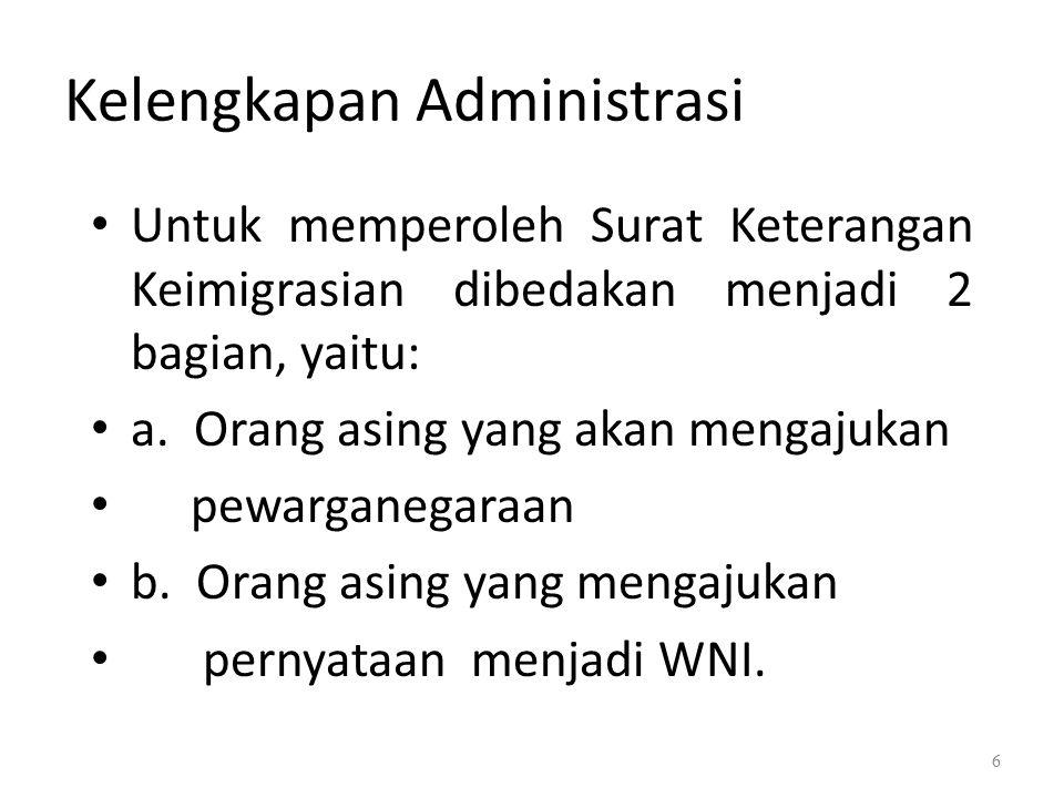 Kelengkapan Administrasi