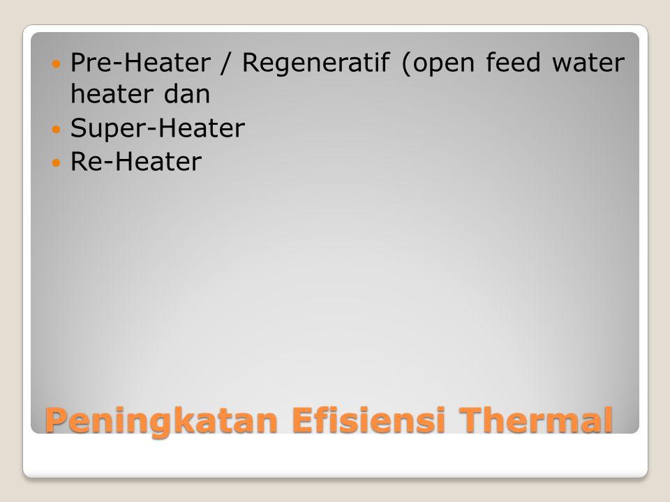 Peningkatan Efisiensi Thermal