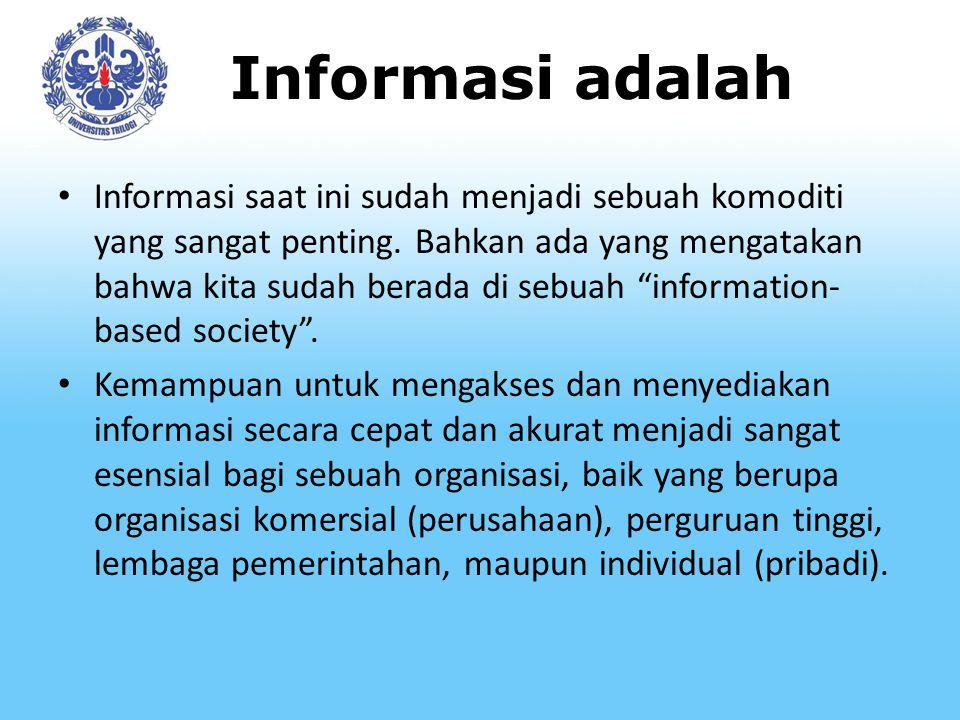 Informasi adalah