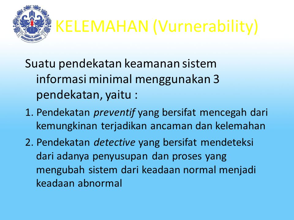 KELEMAHAN (Vurnerability)