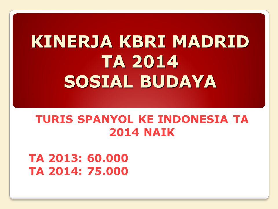KINERJA KBRI MADRID TA 2014 SOSIAL BUDAYA