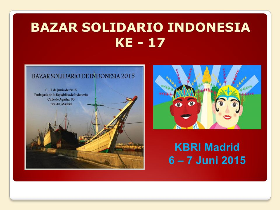 BAZAR SOLIDARIO INDONESIA KE - 17