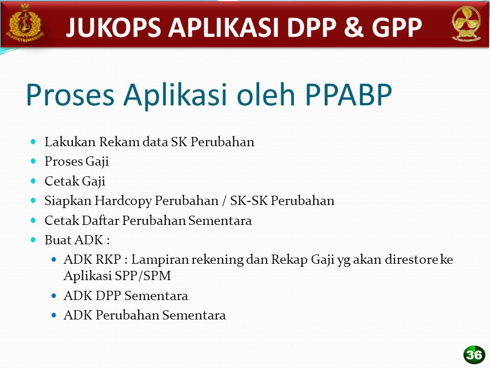 Proses Aplikasi oleh PPABP