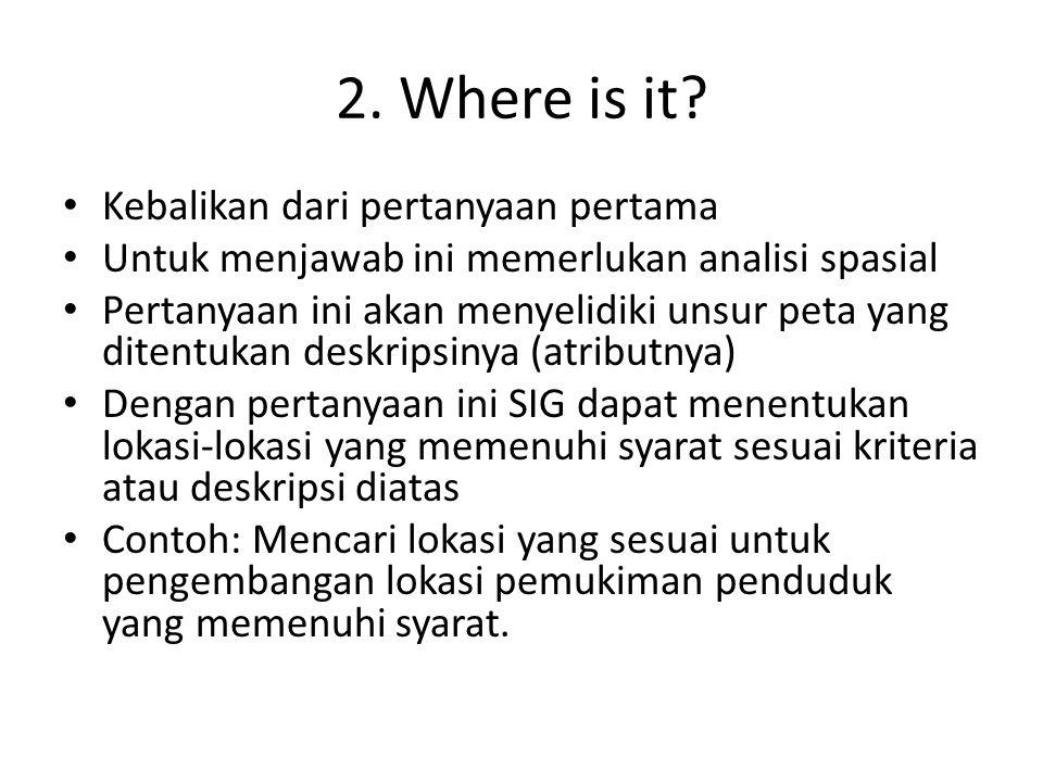 2. Where is it Kebalikan dari pertanyaan pertama