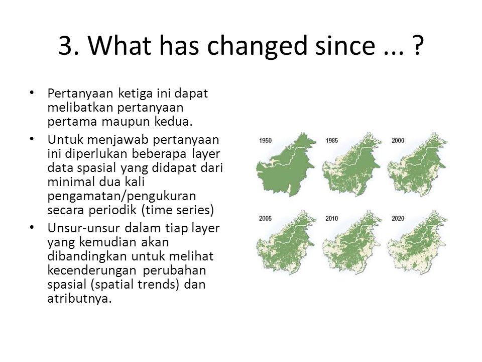 3. What has changed since ... Pertanyaan ketiga ini dapat melibatkan pertanyaan pertama maupun kedua.