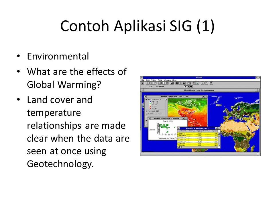 Contoh Aplikasi SIG (1) Environmental
