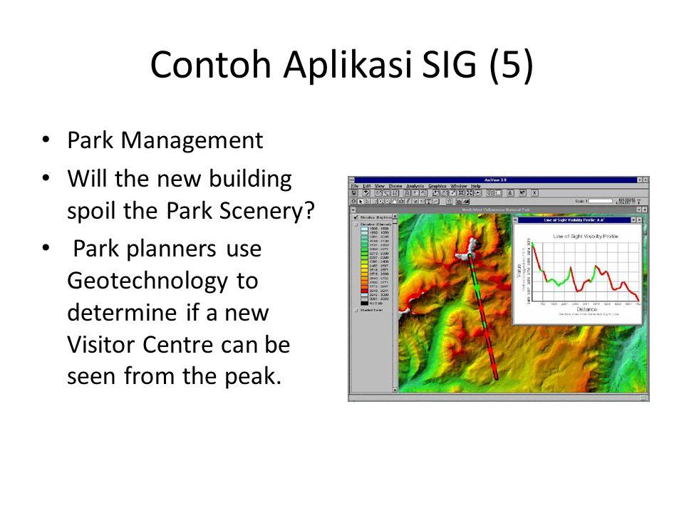 Contoh Aplikasi SIG (5) Park Management