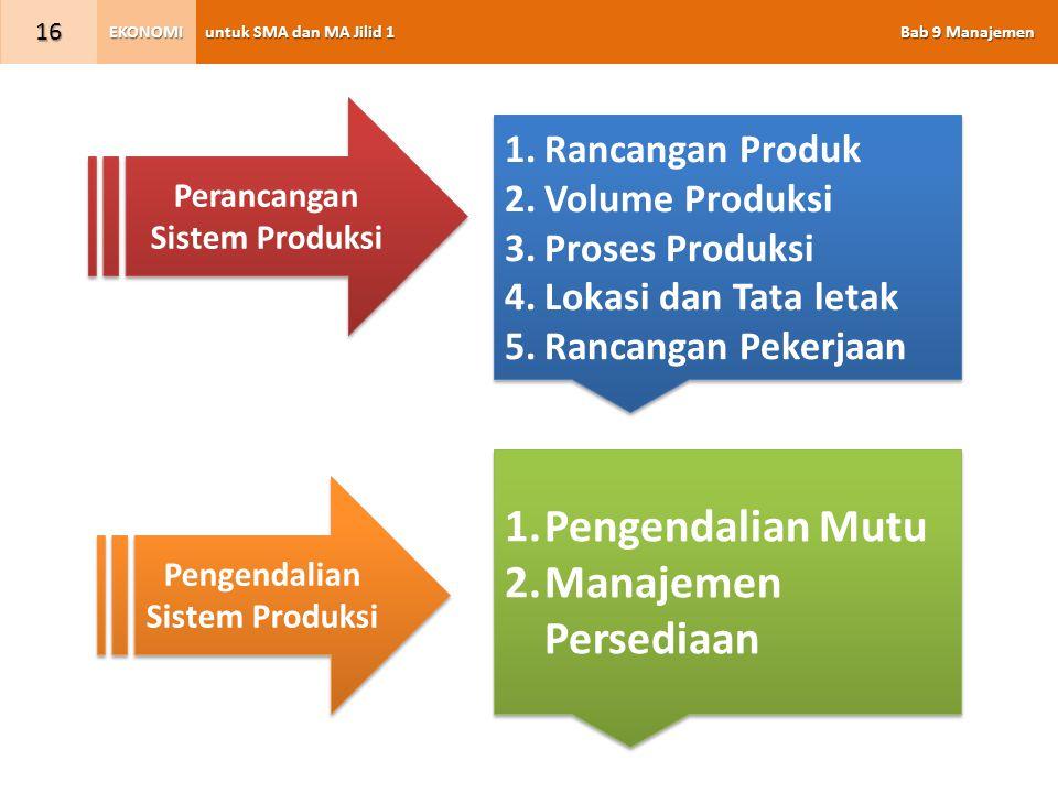 Perancangan Sistem Produksi Pengendalian Sistem Produksi